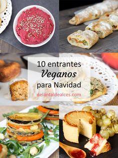 Inspírate con esta selección de 10 entrantes veganos para Navidad. Recetas fáciles y sabrosas para disfrutar de unas fiestas 100% veganas con tu familia.