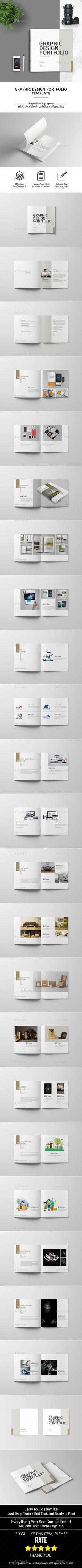 #creative #Graphic #Design #Portfolio #Template - #professional #modern Portfolio #Brochures #design. download here: https://graphicriver.net/item/graphic-design-portfolio-template/19899858?ref=yinkira