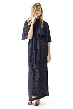 Emiko Jacquard Maxi Dress, Iris