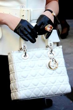 Millionaire's Closet-  So Chic in Dior,,, And The Gloves.. And The Rock On The Gloves.... ;-)