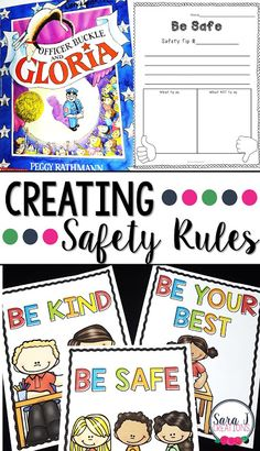 Setting up Safety Rules   Setting up rules in the classroom is so important to successful student learning. One of my favorite rules to learn about was BE SAFE. I LOVED reading Officer Buckle and Gloria and allowing students to create their own safety rule. Grab your safety freebie HERE.  be safe class rules classroom rules PreK-2 safety Sara J Sara J Creations