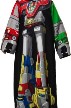 Voltron Cozy: 80s Cartoon Voltron Wearable Blanket With Sleeves