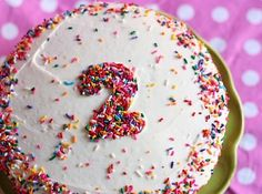Decorate a boxed-mix, store-bought, or homemade cake with this clever trick.   13 Totally Genius Birthday Cakes For Kids