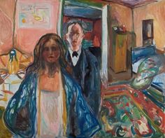 Edvard Munch - The Artist and his Model (1919-1921)