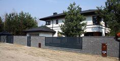 nowoczesne ogrodzenie i brama przesuwna warszawa