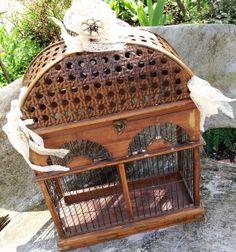 Bird Cage Wedding Card holder- in vintage style