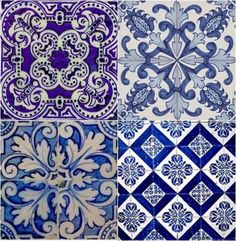 azulejaria portuguesa azulejos vintage old pattern bleu blue cobalt white Portuguese tile tiles old Tile Patterns, Textures Patterns, Print Patterns, Delft, Tile Art, Mosaic Tiles, Antique Tiles, Blue Tiles, White Tiles