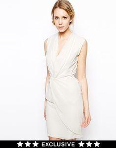 VLabel London Somerset Tuxedo Dress With Wrap Front