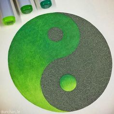 Green is the new black!! Harmony and balance for this Yin-Yang artwork which is my entry for this March #CopicColors challenge using the G17 YG17 and YG23. I usually used the Copics as a back color but making some gradation using them as main colors really makes my drawings pop up and I love it!!! I started recently trying something different with those markers and it works very well for me. Plus this definitely adds something to my creations and I really see a lot of potential for my future…