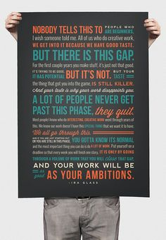 18x24 Ira Glass Quote On Creativity Print