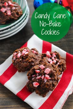 Candy Cane No-Bake Cookies - A 15-minute holiday cookie, no baking experience needed!