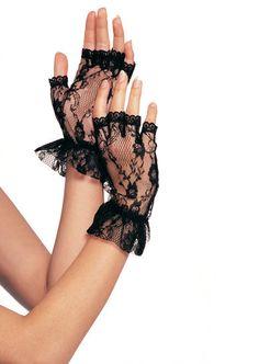 d73e17c1d Wrist Length Fingerless Lace Gloves Gant, Fingerless Gloves, Lace Gloves,  Lingerie Accessories,