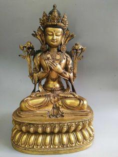 Lot 379 S96 - Chinese Gilt Bronze Seating Buddha - Est. $8000-12000 - Antique Reader