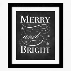 Shop for on Etsy, the place to express your creativity through the buying and selling of handmade and vintage goods. Christmas Chalkboard Art, Christmas Holidays, Xmas, Joy To The World, Party Signs, Nursery Prints, Merry And Bright, Printable Wall Art, Stocking Stuffers