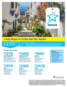 Featured Promotion - Long Stays in Costa del Sol, Spain!