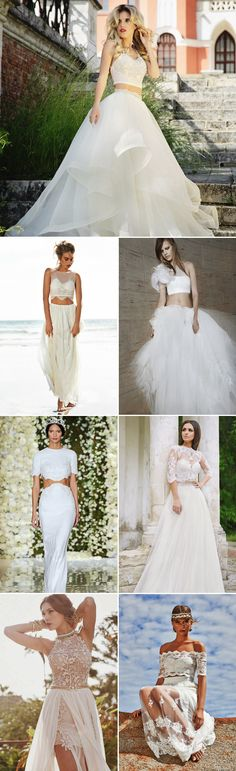 2015 Top Wedding Dress Trends - Two-Piece