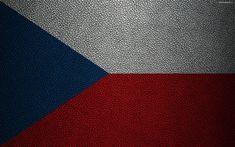 Download wallpapers Flag of Czech Republic, 4k, leather texture, Czech flag, Europe, flags of Europe, Czech Republic