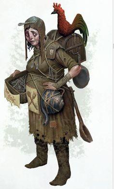 f npc merchant undercity slums spoons eggs Snake charming story d&d Warhammer lg Warhammer Fantasy Roleplay, Fantasy Rpg, Medieval Fantasy, Fantasy World, Fantasy Character Design, Character Concept, Character Inspiration, Character Art, Concept Art