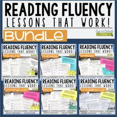 This is an EXCELLENT bundle for supporting students in reading fluency!  Many people believe that to read fluently means to 'read fast.' But, in fact, there is much more to reading with fluency than being able to read fast.  Check out these lessons!