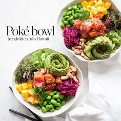 Poké Bowl - Diet And Nutrition Poke Bowl, Raw Food Recipes, Asian Recipes, Vegetarian Recipes, Healthy Recipes, Eat This, Superfood, Greens Recipe, Health Eating