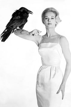 Tippi Hedren in a promotional photo for The Birds, 1963.