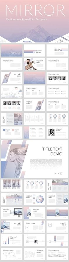 Mirror PowerPoint Template Cool Powerpoint, Simple Powerpoint Templates, Powerpoint Presentation Slides, Creative Powerpoint Presentations, Creative Presentation Ideas, Business Presentation Templates, Presentation Layout, Web Design, Slide Design