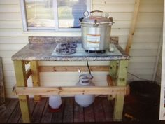 canning stove | Outdoor canning stove- what a neat idea!