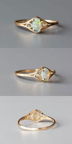 Size 6.25. Free Gift Bag/Box with every order! Every Opal piece is Unique. You won't find two exactly identical opal gems because of their unrepeatable play-of-color. Being worn frequently can help opal to acquire the necessary humidity from the air as well as from the skin. | eBay!