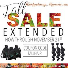 15% off on all hair with 30 Days guarantee and free shipping. Time is running out ladies.. Hairbyshanay.mayvenn.com