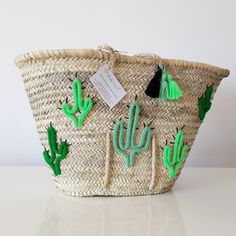 Panier de plage Cactus 1