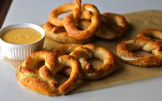 Yammie's Noshery: Auntie Anne's Pretzels: Copycat Recipe...just ate at aunt annies today-and my aunt said she asked a worker once and they said they spray salt water on the pretzel...hmm interesting
