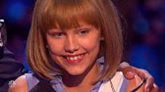 """She entered the stage innocent and naive with a ukulele; sung an original composition; turned everyone into a state of amazement! As Simon Cowell puts it, """"I think you're the next Taylor Swift."""" #amazingfri"""