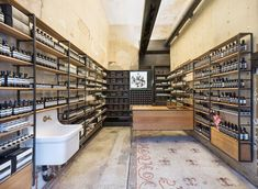 Aesop store by Architecture Outfit, New York store design Pharmacy Design, Retail Design, Boutiques, Aesop Shop, Tienda Natural, Retail Architecture, Industrial Office Design, Industrial Shelving, Madison Avenue