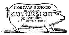 The Graphics Fairy - DIY: Transfer Printable - Pig Sign - Farmhouse Style