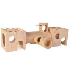 hamster wood castle tunnel system