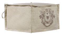 linen pouf