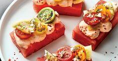 Watermelon Salad, Watermelon Recipes, Fruit Recipes, Summer Recipes, Wine Recipes, Cooking Recipes, Delicious Recipes, Healthy Appetizers, Gourmet