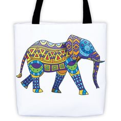 Native Decorated Elephant Tribal Elephan Tote bag All-Over Tote
