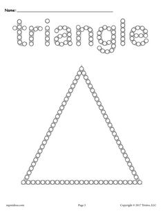 Free Triangle Q-Tip Painting Printable