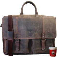 Leather Briefcase, Baron, Van Gogh, Messenger Bag, Satchel, Laptop Tote, Leather Bag, Backpack