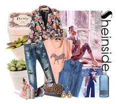 """Summer style denim look"" by jzinga ❤ liked on Polyvore featuring Henri Bendel, Luana, Luisa Spagnoli, Essie, Valentino, Ilia and Le Couvent des Minimes"