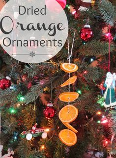 Dried Orange Ornaments with Twine makeandtakes.com