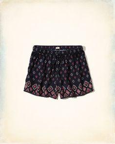Edged Drapey Shorts