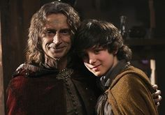 Rumpel (Robert Carlyle) and Young Baelfire (Dylan Schmid). Once Upon a Time