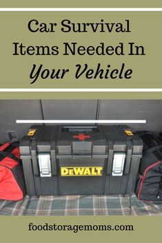 What Items Should Be in My Car Emergency Survival Kit?Everyone who owns a car should carry a car survival kit with them at all times. This is especially true for anyone who will be driving in remote. Car Survival Kits, Survival Items, Survival Supplies, Emergency Supplies, Survival Food, Outdoor Survival, Survival Prepping, Survival Skills, Survival Hacks