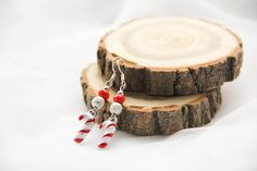 Christmas Peppermint Earrings Candy Peppermint by kskalozubova
