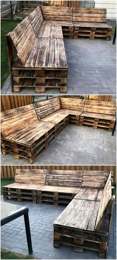 50 unique DIY projects with wooden pallets, .- 50 einzigartige DIY-Projekte mit Holzpaletten, 50 unique DIY projects with wooden pallets, pallets sofa 50 unique DIY projects with wooden pallets - Pallet Garden Furniture, Pallets Garden, Furniture Projects, Wood Pallets, Modern Furniture, Rustic Furniture, Diy Furniture, Outdoor Furniture, Garden Ideas With Pallets