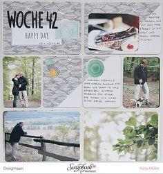 DT Arbeit Scrapbook Werkstatt American Crafts / Amy Tangerine - Stitched Project Life von Katja Müller