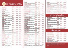 Il menu alla carta di Pizza & C. di Mondovì
