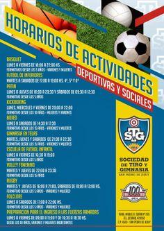 Pablo Moral Cruz - Jujuy: Horario de Actividades deportivas y sociales CLUB TIRO & GIMNASIA SAN PEDRO